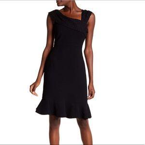 Nanette Lepore Textured Lace Trim Dress